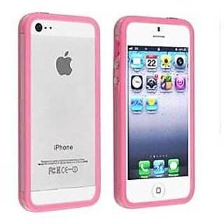 Bumper TPU Case Combo For iPhone 4 Hot Pink Clear