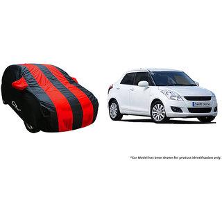 Autofurnish Stylish Red Stripe Car Body Cover For Hyundai Xcent 2017 -  Arc Blue