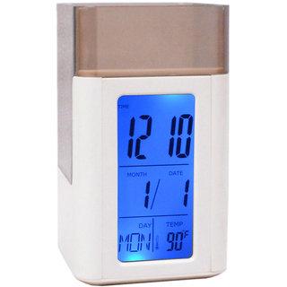 Digital Pen Stand Voice Control Alarm Date Alarm Clock Table Clock 327