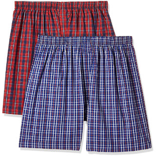 Cybernext Mens Multicolored Boxer (Set of 2)
