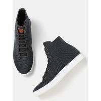 Moda Rapido Men Solid High-Top Sneakers-JZV
