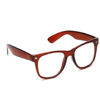 Adam Jones Brown Frame Transparent Wayfarer Sunglass (UV Protected) (Medium Size)