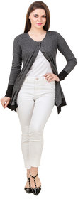 Texco hi-fashion smart casual milange dark grey ruffle hemline shrug