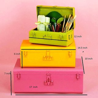 The New Look Jewellery cum Storage Box Set of 3 Multi-Color