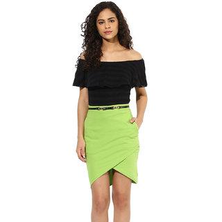 a725c648de539 Buy Texco women s green   black off shoulder dress Online - Get 67% Off