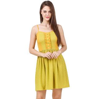 Texco women's yellow polka dot summer dress
