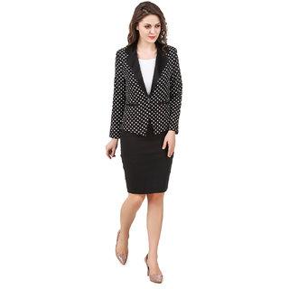 Texco women's black polka dott summer blazer