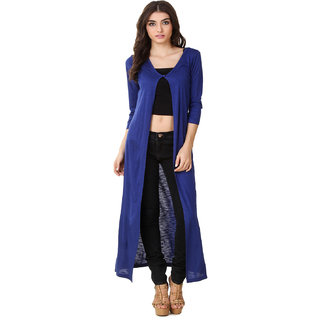 Texco Hi-Fashion Long Blue Shrug