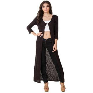Texco Hi-Fashion Long Black Shrug