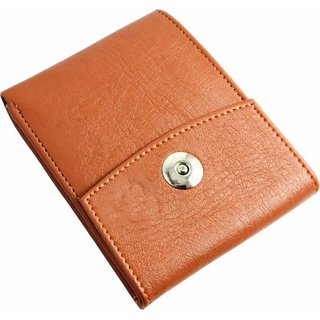 Macberry Brown PU Bi-fold Wallets for Men's