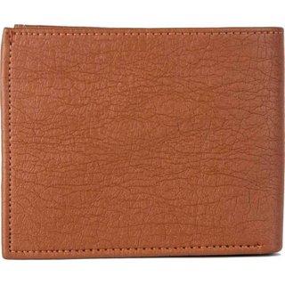 Macberry Tan PU Bi-fold Wallets for Men's