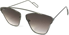 Silver Kartz Black UV Protection Aviator Sunglasses