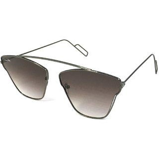 Silver Kartz Black UV Protection Aviator Sunglasses