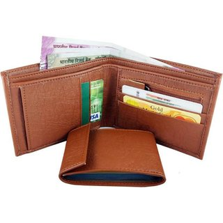 Men Faux Leather Wallet (Tan)