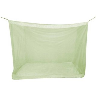 Pin to Pen Nylon Adults Mosquito Net for Queen Size Bed (5 X 6) Green Mosquito Net (Green)