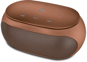 iBall SoundBuzz i5 Smart Feather Touch Control Portable Speaker (Brown Gold)
