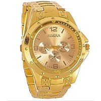 NEW Rosra Full Gold Stylish Wrist Watch For Men