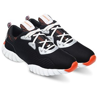 Axonza Men'S Black Marathon Mesh Dp Running Shoes