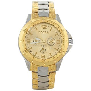 new brand Rosra silver/gold watch for men