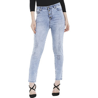 four button fly jeans