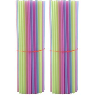 Pin to Pen Straight Drinking Straw (Multicolor, Pack of 200)