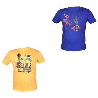 3e23d45e458 Buy Pari Prince Men s Round Neck T shirt (Pack of 2) Online - Get 50% Off