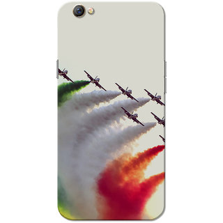 Oppo F3 Case, Airforce Aircrafts Tricolour Slim Fit Hard Case Cover/Back Cover for OPPO F3