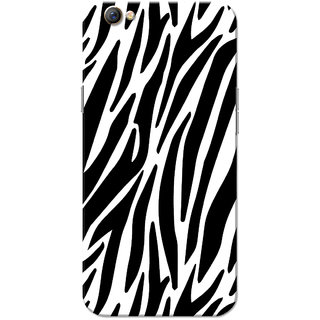 Oppo F3 Case, Zebra Strips Black White Slim Fit Hard Case Cover/Back Cover for OPPO F3