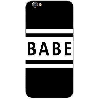 Oppo F3 Case, Babe White Black Slim Fit Hard Case Cover/Back Cover for OPPO F3