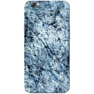 Oppo F3 Case, Paper Scrap Blue Slim Fit Hard Case Cover/Back Cover for OPPO F3
