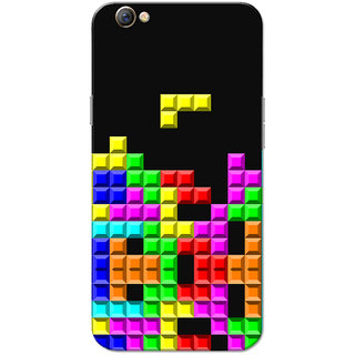 Oppo F3 Case, Tetris Multicolour Slim Fit Hard Case Cover/Back Cover for OPPO F3