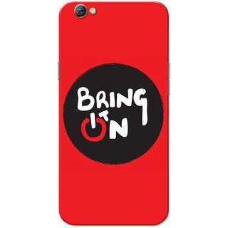 Oppo F3 Case, Bring It On Black Red Slim Fit Hard Case Cover/Back Cover for OPPO F3