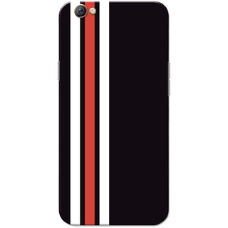 Oppo F3 Case, Three Strips Red White Black Slim Fit Hard Case Cover/Back Cover for OPPO F3