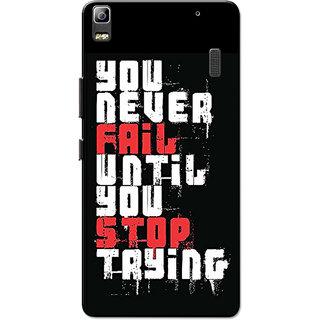 Lenovo K3 Note, Lenovo A7000, Lenovo A7000 Plus Never Fail White Black Slim Fit Hard Case Cover/Back Cover for Lenovo K3 Note/A7000/A7000 Plus