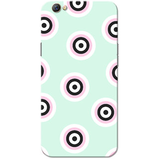 Oppo F3 Case, Circle Dots Pattern Sea Green Slim Fit Hard Case Cover/Back Cover for OPPO F3