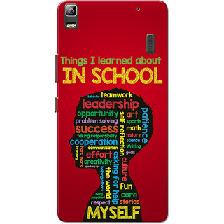 Lenovo K3 Note, Lenovo A7000, Lenovo A7000 Plus School Learning Red Slim Fit Hard Case Cover/Back Cover for Lenovo K3 Note/A7000/A7000 Plus