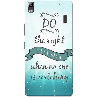 Lenovo K3 Note, Lenovo A7000, Lenovo A7000 Plus Do The Right Thing Sky Blue Slim Fit Hard Case Cover/Back Cover for Lenovo K3 Note/A7000/A7000 Plus