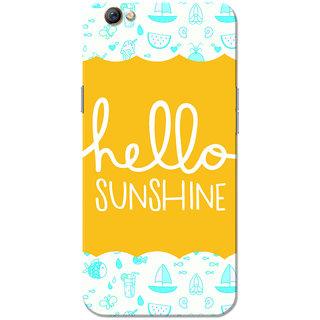 Oppo F3 Case, Hello Sunshine Blue White Slim Fit Hard Case Cover/Back Cover for OPPO F3