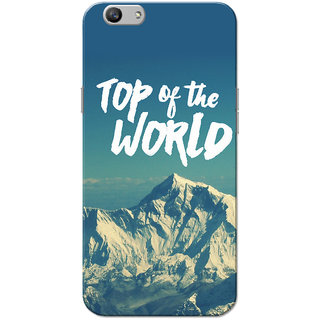 Oppo F1S Case, Top Of The World Blue Slim Fit Hard Case Cover/Back Cover for OPPO F1s