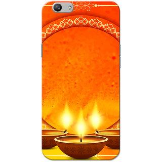 Oppo F1S Case, Diwali Diya Orange Slim Fit Hard Case Cover/Back Cover for OPPO F1s