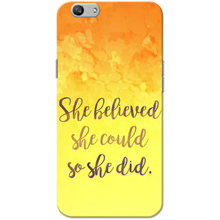 Oppo F1S Case, She Believed Yellow Orange Slim Fit Hard Case Cover/Back Cover for OPPO F1s