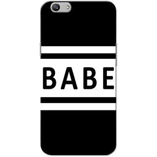 Oppo F1S Case, Babe White Black Slim Fit Hard Case Cover/Back Cover for OPPO F1s