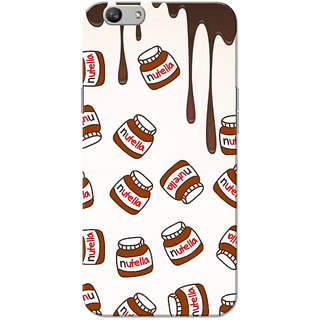 Oppo F1S Case, Nutella Pattern White Slim Fit Hard Case Cover/Back Cover for OPPO F1s