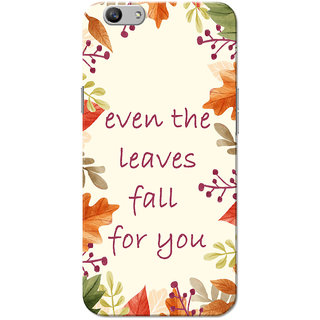 Oppo F1S Case, Leaves Fall For You Slim Fit Hard Case Cover/Back Cover for OPPO F1s