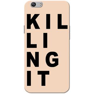 Oppo F1S Case, Killing It Black Peach Slim Fit Hard Case Cover/Back Cover for OPPO F1s