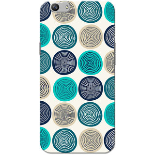 Oppo F1S Case, Circles Pattern Green White Slim Fit Hard Case Cover/Back Cover for OPPO F1s