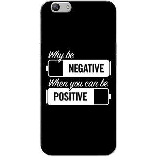Oppo F1S Case, Negative Positive White Black Slim Fit Hard Case Cover/Back Cover for OPPO F1s