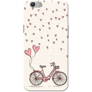 Oppo F1S Case, Love Cycle Pink Cream Slim Fit Hard Case Cover/Back Cover for OPPO F1s