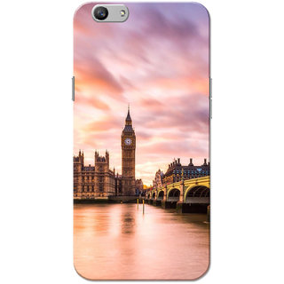 Oppo F1S Case, London Big Ben Pink Slim Fit Hard Case Cover/Back Cover for OPPO F1s