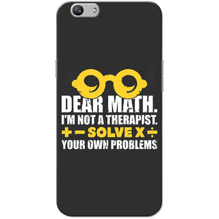 Oppo F1S Case, Dear Math Yellow Grey Slim Fit Hard Case Cover/Back Cover for OPPO F1s
